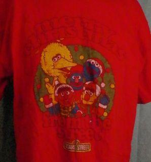 Sesame Street Merry Christmas From The T Shirt XL Big Bird Bert Ernie