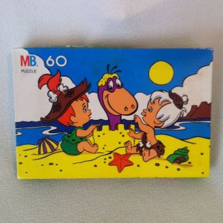 THE FLINTSTONES PUZZLE Hanna Barbera ~ Milton Bradley ~ Beach Kids