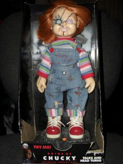 RARE CHUCKY DOLL 12 INCH FROM BRIDE OF CHUCKY TALKS & HEAD TURNS