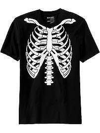 Old Navy Mens Skeleton T Shirt Halloween Costume Tee Anytime Funny