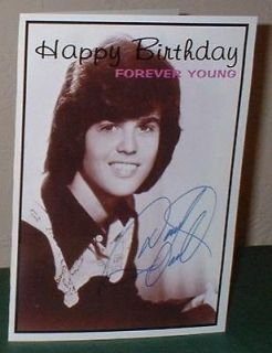 Donny Osmond Personalised Birthday Greeting Card O2