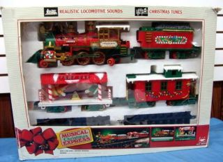 New Bright Musical Christmas Express Toy Train Model 183 G Scale
