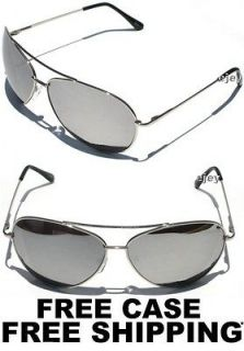 AVIATOR MIRROR LENS CHROME FRAME SUNGLASSES Sunnies Extra Large Size
