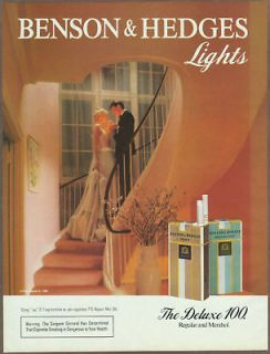 Benson & Hedges cigarettes 1984 print ad / magazine advertisement