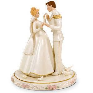 Lenox Disney CINDERELLAS Wedding Cake Topper NIB/coa