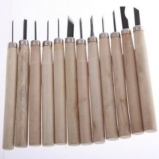 Set Wood Carving Hand Chisels handles Tools Kit For hobbyists artists