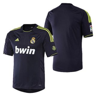 adidas REAL MADRID 2012 2013 Away Soccer Jersey Navy Blue   Neon Brand