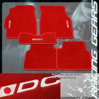 94 01 Acura Integra 2dr LS/GS/GS R Red Nonskid Floor Mats Carpets w