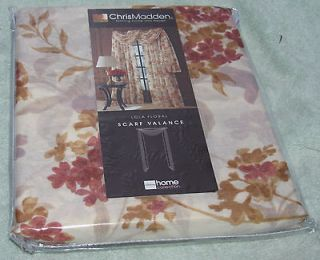 Chris Madden  Home Collection Lola Floral Scarf Valance