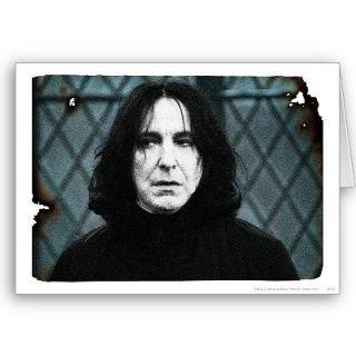 Harry Potter Greeting Card   Birthday Card   Snape   Magic   Fantasy