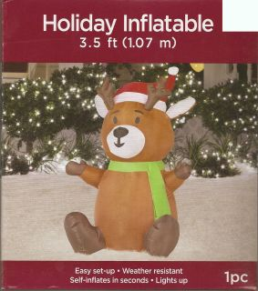 DEER AIRBLOWN INFLATABLE LIGHTED OUTDOOR CHRISTMAS YARD DECORATION NEW