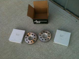 AUDI TT BMW WHEEL SPACERS 20MM THICK 5 X100 OR 5X120 BILLET ALUMINUM