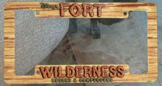 Disney Park Fort Wilderness Car Plastic License Plate Frame NEW