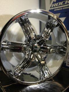 22 inch Helo HE866 chrome wheels rims 5x5 5x127 +35