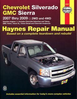 Chevrolet Silverado Suburban Tahoe 07 09 Haynes Manual