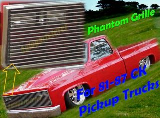 81 87 Chevy GMC Pickup/Suburban/Blazer/Jimmy Phantom Black Billet