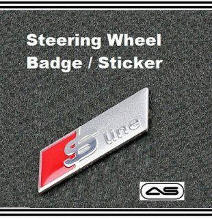 AUDI S Line Steering Wheel Sticker Badge Emblem A3 A4 A5 A6 S3 S4 S5