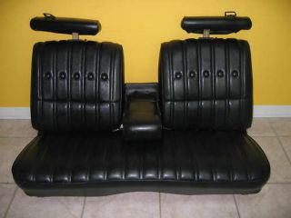 CHEVY MALIBU CLASSIC LEATHER BENCH SEAT SET 75+ OEM BLK