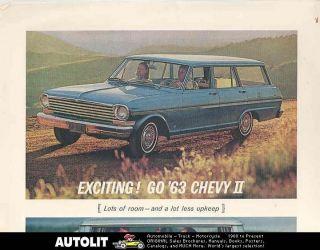 1963 Chevrolet Chevy II Nova Station Wagon Ad Mat