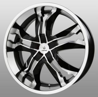 18 inch Verde Jaggedge Black Wheels Rims 5x4.5 Stratus Crown Victoria