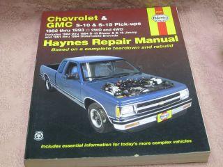 Haynes 24070 Repair Manual Chevrolet & GMC s10/s15 Pickups 82 93