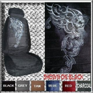 NEW SKULL FLAME TRIBAL CAR TRUCK SUV VAN SEAT COVERS pp (Fits PT