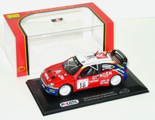 Polistil 2003 Citroen Xsara WRC 1:32 MIB S Loeb Rallye Monte Carlo #18