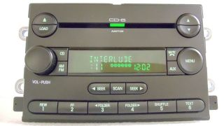 2005 05 Ford Five Hundred 500 Mercury Montego RADIO  Player 6 Disc