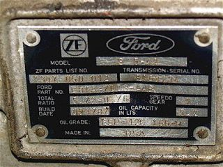 FORD F250 ZF REBUILT TRANSMISSION 2WD SMALL BELL