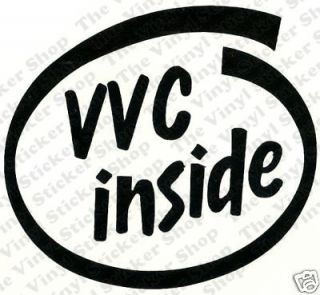 VVC Inside Vinyl Car Sticker/Decal   Ideal for MG/Rover/Lotus/Ariel