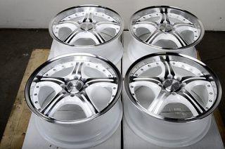 4x100 White Wheels Integra Ford Focus ZX2 VX3 SVT Cougar 4 Lug Rims