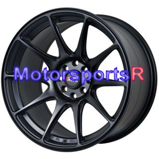 75 XXR 527 Flat Black Rims Wheels Staggered Stance 4x100 Mazda Miata
