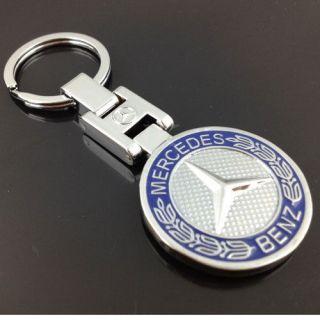 Mercedes Benz car/auto logo keyring metal key chain/keychain keyfobs