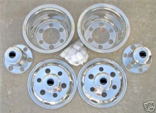 16 Chevy GMC W3500 W4500 6 Lug Dually Wheel Covers