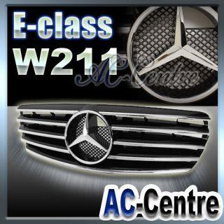 MERCEDES BENZ E CLASS W211 FRONT GRILL GRILLE E320 E350 E500 AMG 03 06