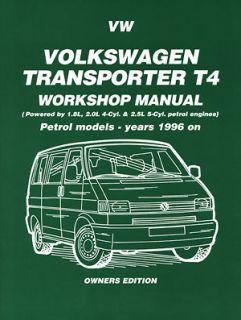 Volkswagen Transporter T4 VW Caravelle VW Vans PETROL 1996 99 Manual