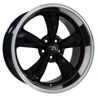 20 Inch Black Mustang ® Bullitt Wheels 20x8.5 & 20x10 Deep Dish Rims