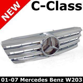 Mercedes Benz W203 C230 C240 C280 C320 C350 01 07 Chrome Front Hood