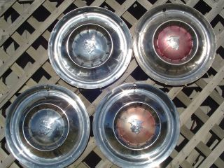 1954 MERCURY HUBCAPS GRAND MARQUIS COLONY PARK WHEEL COVERS ANTIQUE
