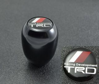 BLACK TYPE R STYLE MT MANUAL TRANSMISSION GEAR SHIFT KNOB W/ TRD