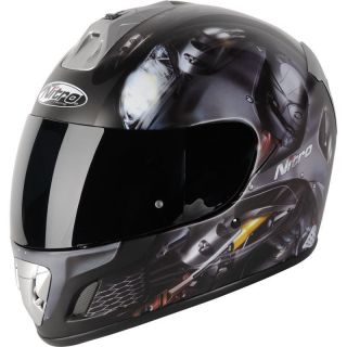 Nitro NGFP Panther Motorcycle Helmet Large Bike Crash Lid Matt Black