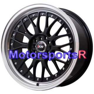 XXR 521 Black Machine Lip Rims Wheels 5x100 5x114.3 08 Subaru STI BRZ