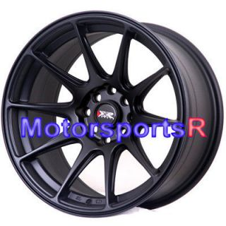XXR 527 Flat Black Concave Rims Wheels Stance 03 04 05 06 Scion xA xB