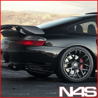 19 PORSCHE 911 996 CARRERA 4 RUGER BLACK STAGGERED CONCAVE WHEELS