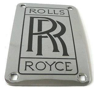 Rolls Royce engine plate (Trunk badge?) metal/chrome *MINT