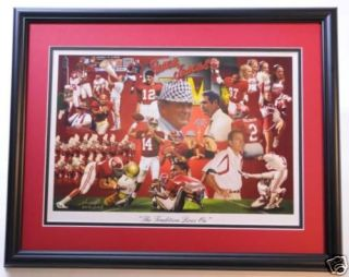 Alabama Football Nick Saban Bear Bryant etc. print