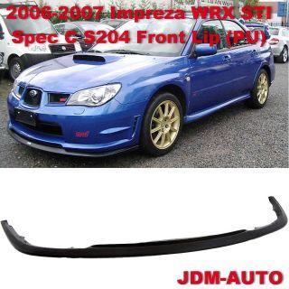 06 07 Subaru Impreza WRX STI Spec C Front Bumper Lip Kit JDM PU S204