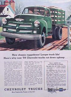1954 Chevrolet Chevy Truck ORIGINAL OLD AD C MY STORE 4MORE 5