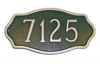 Hamilton Standard Address Plaque Lawn House Sign Numbers wall Custom