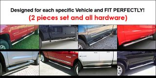 07 12 Toyota Tundra Double Cab 4 inch Oval Stainless Nerf Bars (Fits